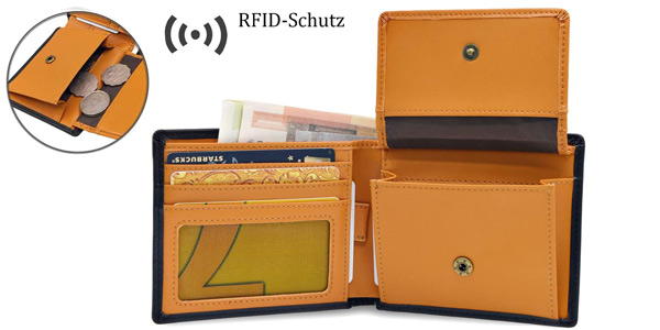 Cartera billetera WinCret para hombre con monedero y bloqueo RFID chollo en Amazon