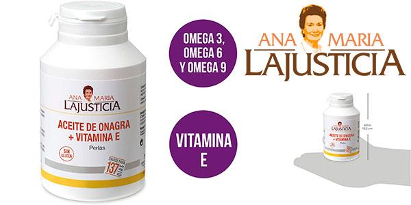 Chollo Complemento alimenticio Ana Maria Lajusticia de Aceite de Onagra + Vitamina E (275 perlas)