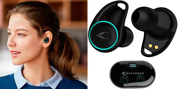 Chollo Auriculares TWS inalámbricos MYCARBON con Bluettoth 5.0