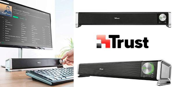 Chollo Barra de Sonido Trust Asto USB de 12 W para PC