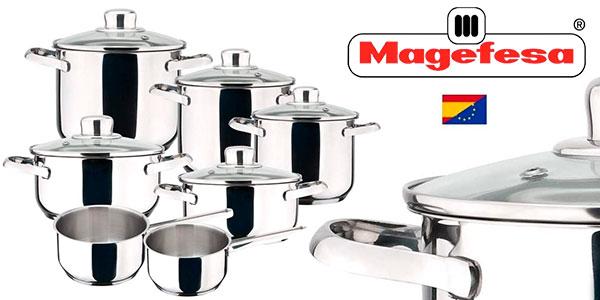 Chollo Batería de cocina Magefesa Dux de 12 piezas de acero