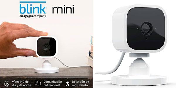 Chollo Cámara de seguridad inteligente Blink Mini HD compatible con Alexa