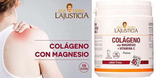 Chollo Chollo Bote de Colágeno con Magnesio y Vitamina C Ana María Lajusticia de 350 gramos con sabor fresa