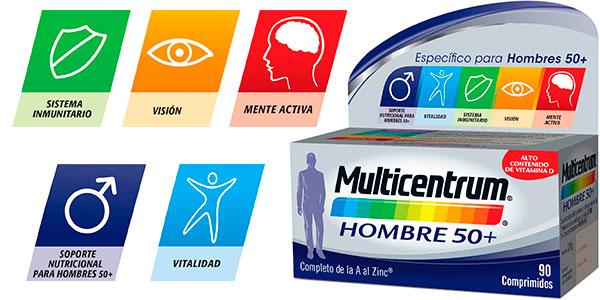 Chollo Complemento alimenticio Multicentrum Hombre 50+ de 90 comprimidos
