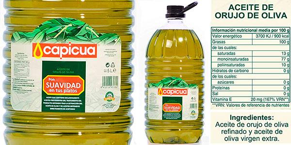 Chollo Garrafa de aceite de orujo de oliva Capicua de 5 litros