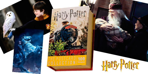 Chollo Caja de 100 postales de Harry Potter