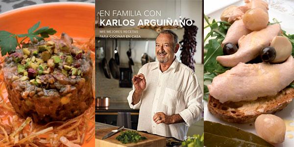 """Chollo Libro """"En familia con Karlos Arguiñano: Mis mejores recetas para cocinar en casa"""" en formato Kindle"""