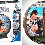 Chollo Puzle esférico 3D de Mascotas con soporte