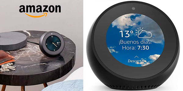 Chollo Reloj despertador inteligente Amazon Echo Spot con Alexa