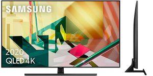 "Chollo Smart TV Samsung QLED 4K 65Q70T 2020 UHD 4K de 65"" con IA"