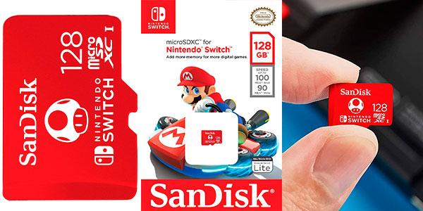 Chollo Tarjeta SanDisk microSDXC de 128 GB para Switch