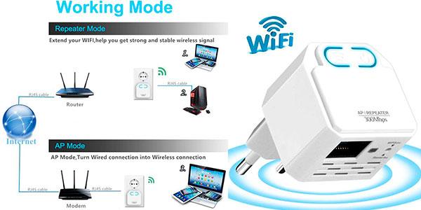 Chollo Repetidor Wi-Fi Wodgreat de 300 Mbit/s