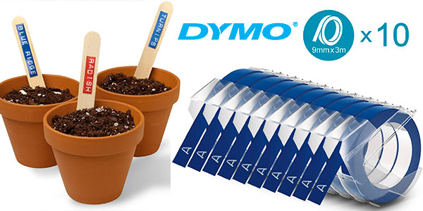 Pack de 10 cintas de estampación autoadhesiva Dymo azul en oferta