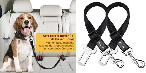 Cinturón de seguridad de coche Omorc 2 para perros (versión mejorada) barato en Amazon