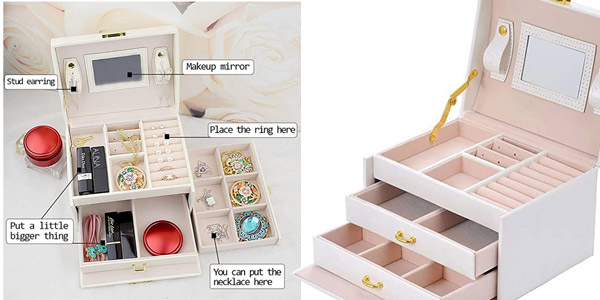 Joyero Beauty Case E-Manis con compartimentos y cajones chollazo en Amazon