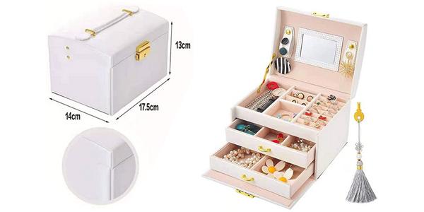 Joyero Beauty Case E-Manis con compartimentos y cajones barato en Amazon