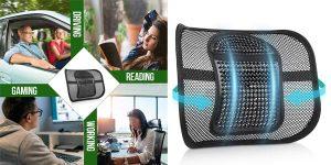 Cojín de soporte Lumbar RenFox barato en Amazon