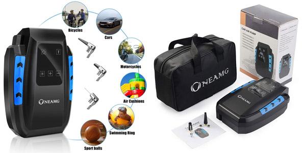 Compresor de Aire Eléctrico Portátil OneAmg de 12 V con luces LED barato en Amazon
