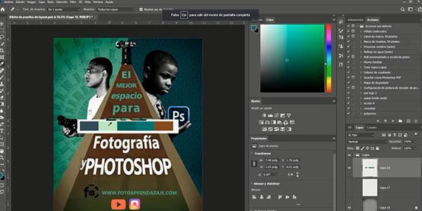 curso Photoshop gratis para diseñadores en Udemy
