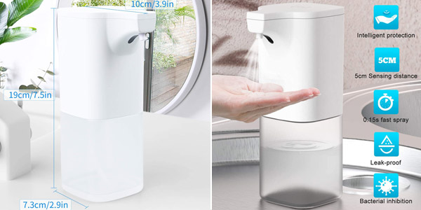Dispensador automático de desinfectante con sensor y depósito de 350 ml barato en Amazon