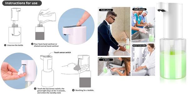 Dispensador de jabón automático sin contacto de 350 ml chollo en Amazon