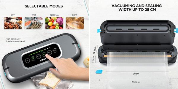 Envasadora al vacío automática Abox V66 con pantalla LED chollo en Amazon