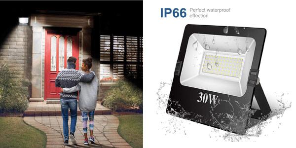 Foco LED para exterior TopPlanet de 30W IP66 barato en Amazon