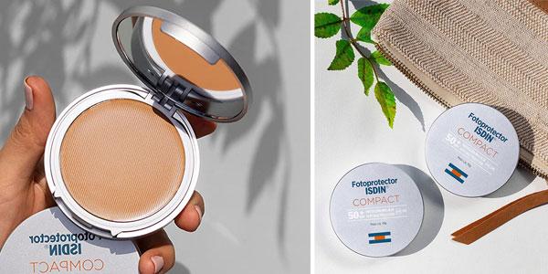 Protector Solar Facial ISDIN Compact SPF 50+ Bronce de 10 gr chollo en Amazon