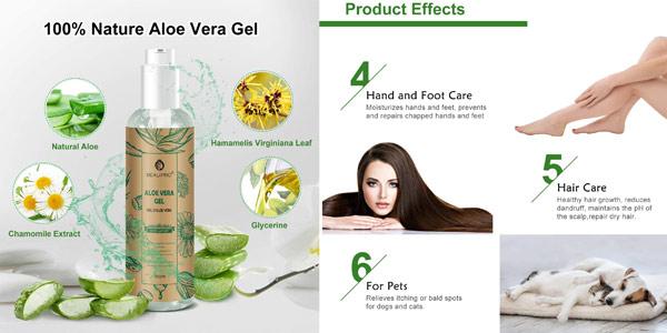 Gel de Aloe Vera con Manzanilla beau-pro 100% natural de 250 ml chollo en Amazon