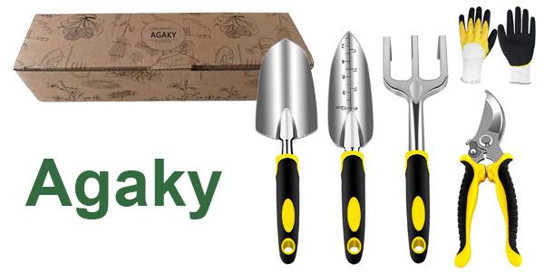 Juego de herramientas de Jardín Agaki de 5 piezas barato en Amazon