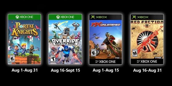 Juegos gratis con Gold agosto 2020