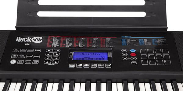 Kit Piano de aprendizaje RockJam RJ761 SK con teclado digital, soporte, asiento, auriculares y app chollo en Amazon