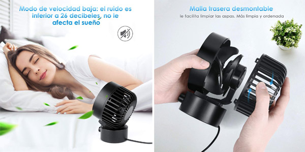 Mini Ventilador USB Simbr chollazo en Amazon