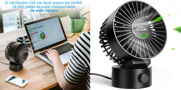 Mini Ventilador USB Simbr barato en Amazon