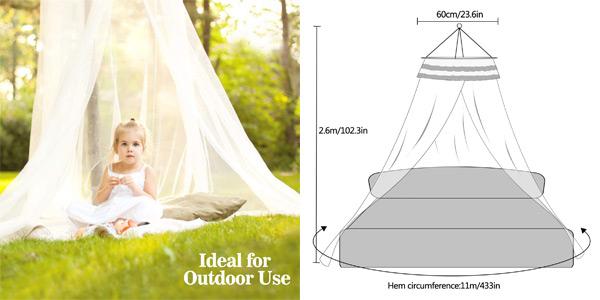Mosquitera universal AimTop para camas chollo en Amazon