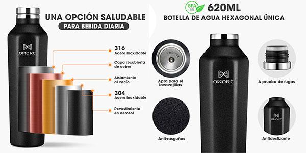 Botella aislante Omorc de 620 ml barata