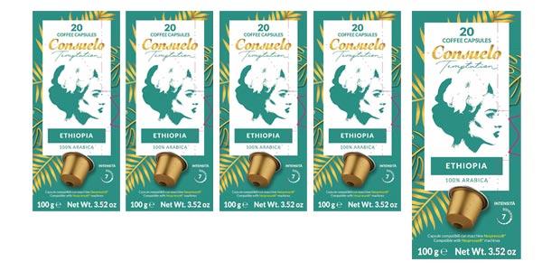 Pack x100 Cápsulas de café Consuelo de Etiopía chollo en Amazon
