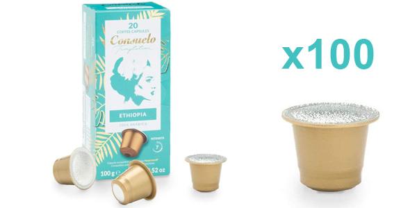 Pack x100 Cápsulas de café Consuelo de Etiopía barato en Amazon