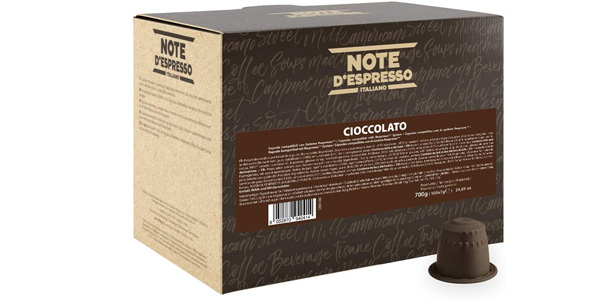 Pack x100 Cápsulas de Chocolate Note D'Espresso de 7 gr/ud chollo en Amazon