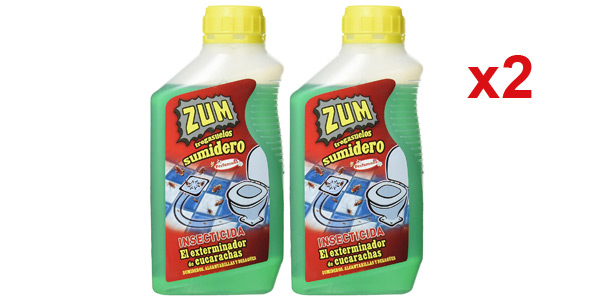 Pack x2 Insecticida Fregasuelos Zum de 500 ml/ud barato en Amazon
