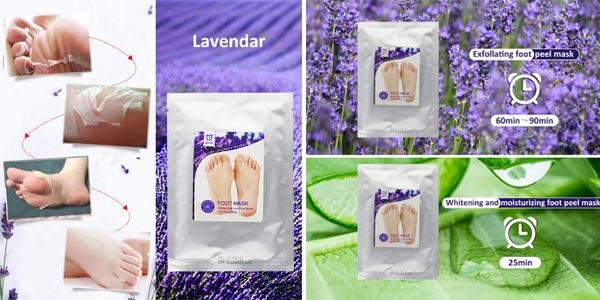 Pack x2 Mascarillas para pies Wolady Exfoliante y Blanqueadora chollazo en Amazon