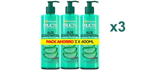 Pack x3 Garnier Fructis Aloe Secado al Aire Tratamiento Capilar Pelo Normal de 400 ml barato en Amazon