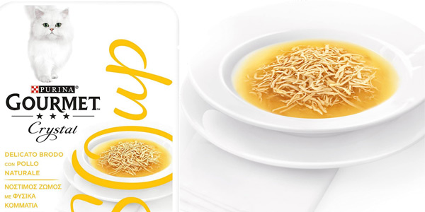 Pack x32 Sobres Purina Gourmet Crystal Soup de 40 gr/ud chollo en Amazon