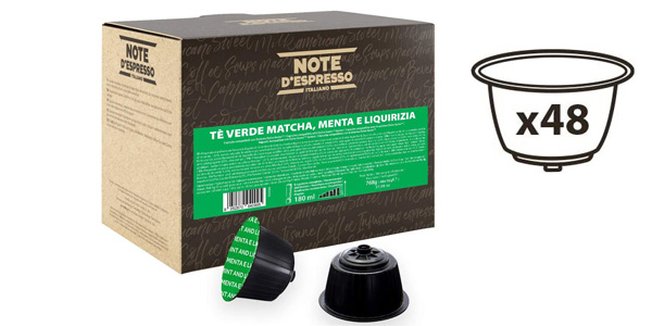 Pack x48 Cápsulas Dolce Gusto Té Verde Matcha Note D'Espresso barato en Amazon
