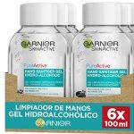 Pack x6 Garnier Skin Active Gel Limpiador Hidroalcohólico de manos de 100 ml barato en Amazon