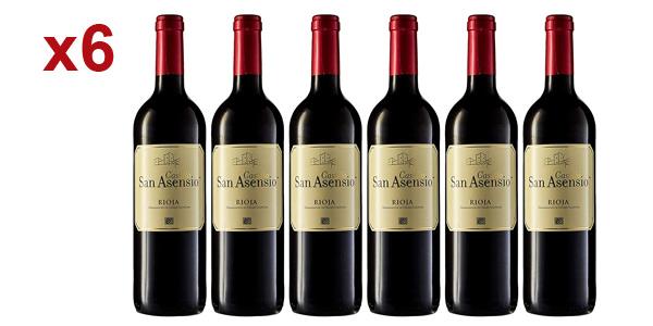 Pack x6 botellas San Asensio Vino tinto D.O. Rioja de 750 ml barato en Amazon