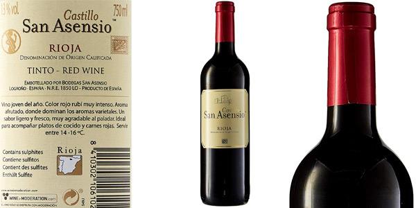 Pack x6 botellas San Asensio Vino tinto D.O. Rioja de 750 ml chollo en Amazon
