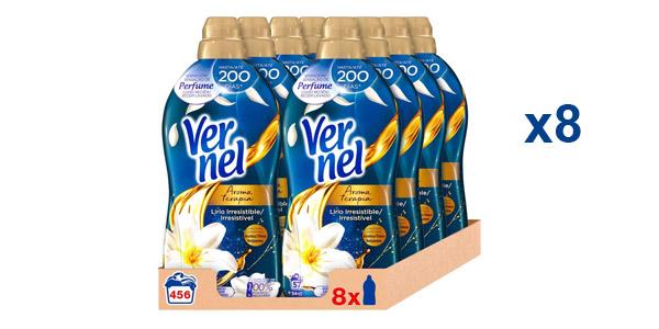 Pack x8 Vernel Suavizante Lavadora Aromaterapia Aceite de Jazmín y Lirio barato en Amazon