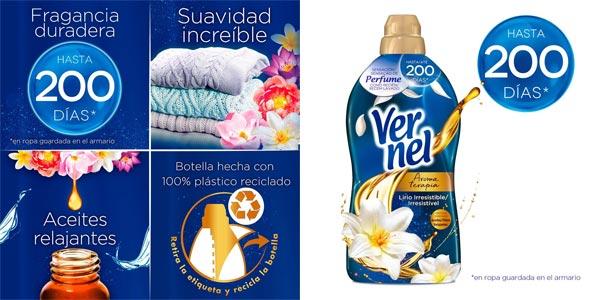Pack x8 Vernel Suavizante Lavadora Aromaterapia Aceite de Jazmín y Lirio chollo en Amazon