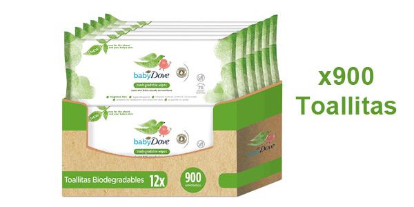 Pack x900 Toallitas húmedas para bebé Baby Dove biodegradables barato en Amazon